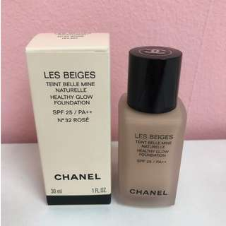 Chanel Les Beiges Healthy Glow Foundation SPF25/PA++ #32 Rose 30ml