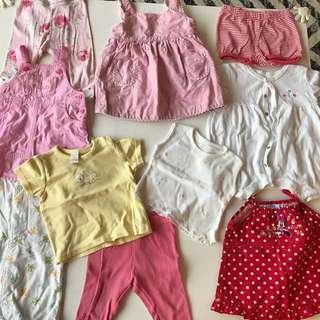 Various girls clothes 3-6 months