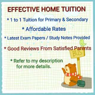 Effective Home Tuition