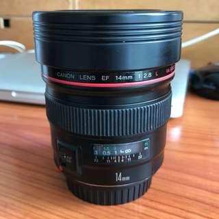 Canon EF 14mn F2.8L