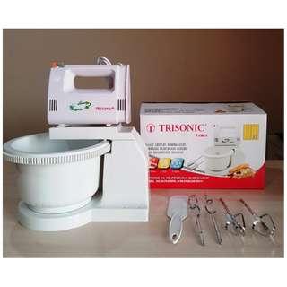 Trisonic Pengaduk Adonan Berdiri Stand Mixer Com With Bowl - Putih