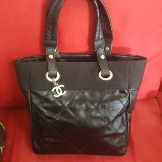 Pre-loved Authentic Chanel Biarritz Tote Bag PM