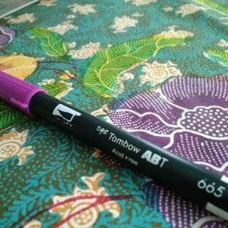 Purple Tombow Brush Pen/Calligraphy Pen
