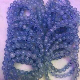 海藍寶珠串