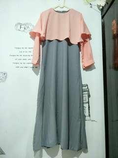 Baju long dress muslimah