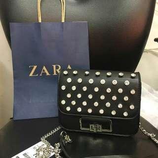Promoo..zara crossbody original import free paperbag
