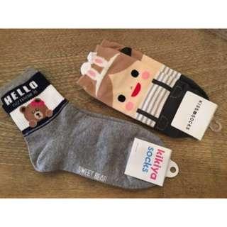 韓國襪子2對 全新