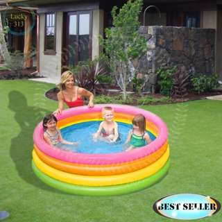 """Swimming Pool Inflatable 4 Rings 66"""" x 18"""""""