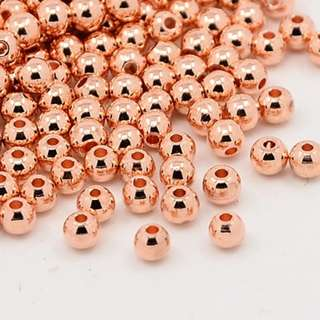 Round Brass Spacer Beads For DIY Jewellery Making / Craft Work