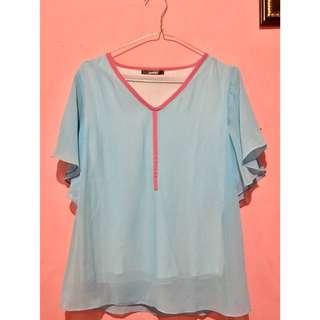 Baju blouse warna biru