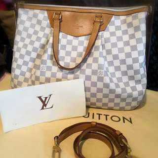 Authentic LV Siracusa GM Damier Azur