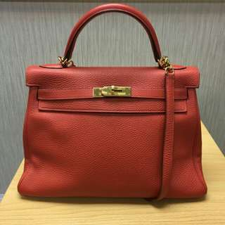 85% new Hermes Kelly 32cm P/Y