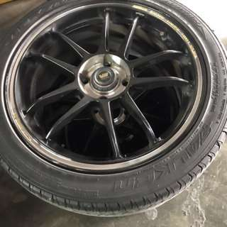 "16"" Volk Racing rim with tyre"