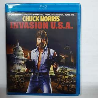 Chuck Norris Invasion U.S.A. Bluray (imported) Region A