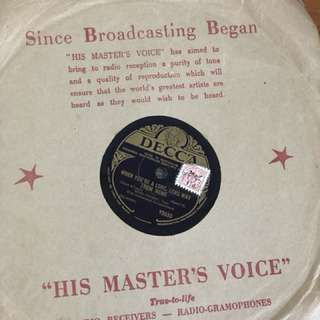 13 Vinyl Records - His Masters Voice - great condition