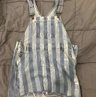 Striped pinafore