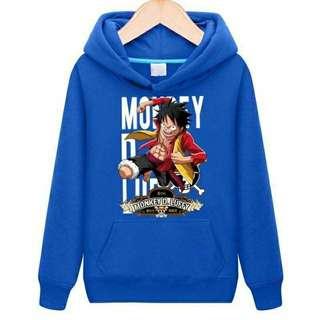 One Piece Hoodie Blue