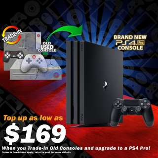 TRADE IN ANY OLD CONSOLE / MOBILE  / LAPTOP FOR BRAND NEW Sony PS4 PS 4 Slim / Pro Play Station Game Gaming Console Consoles Controller Controllers Bundle