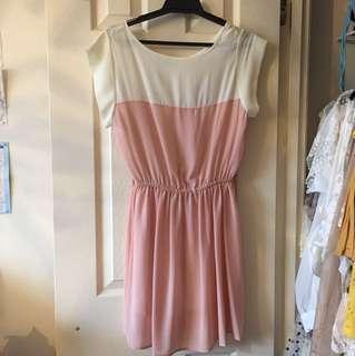 Pink & White Summer Day Dress