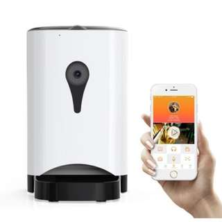[INSTOCKS] 4.5L Smart Camera Automated Pet Feeder For Dogs Cats Rabbits (Camera And Wifi)