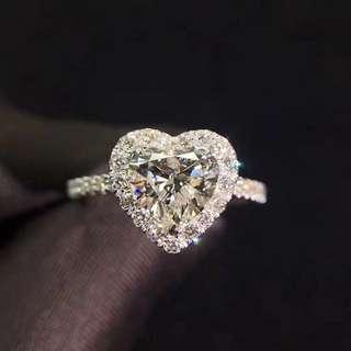 Heart Brilliant Diamond Ring