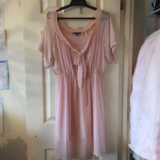 Pink Baby Doll Chiffon Dress
