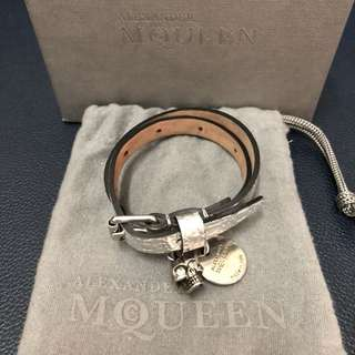Alexander Muqueen Double-wrap Leather Bracelet