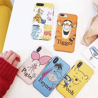 Poohpooh & Friends Iphone 黑邊軟殻🍯