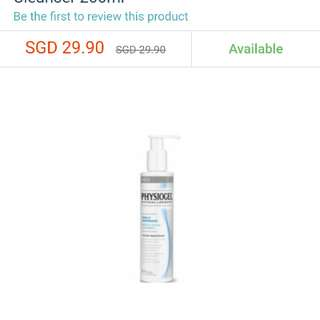 Physiogel facial cleanser