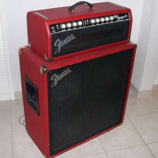 Fender 'Custom shop' Tonemaster Red Tolex Head And Cab