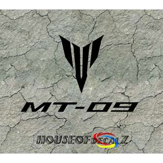 "Custom ""Mt 09"" Yamaha Diecut Vinyl Decal No Background"