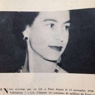 1957 Queen Elizabeth & Marilyn Monroe Featured French Elle Magazine