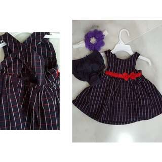 3 Dresses for Baby Girl @ RM100 free 1 NEW hair band