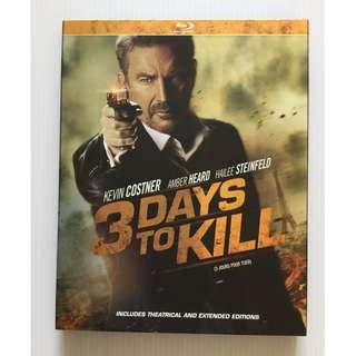 3 Days to Kill Blu Ray