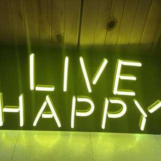 Live happy 裝飾燈