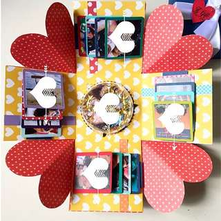A gift for u Valentine day Explosion Box Card
