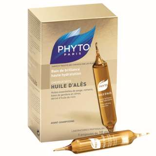 Phyto Huile D'ales Intense Hydrating Oil Treatment for Dry, Color-treated or Highlighted Hair