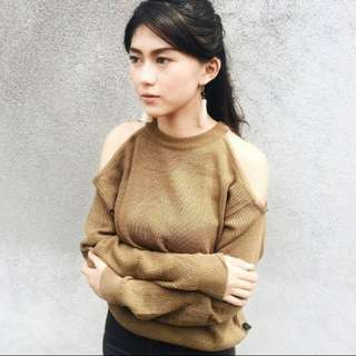 Shoulder Top brown