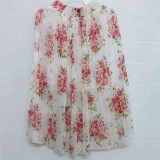 米色碎花裙