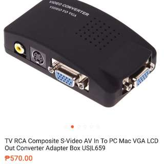 Buying RCA to VGA Converter