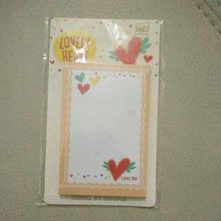 Heart Sticky Notes