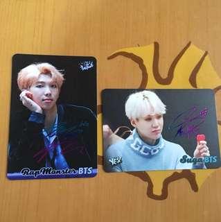 BTS yes card彩簽$4/1 全新一期