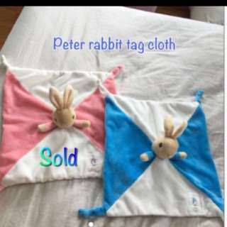 Like new peter rabbit duck toy cloth blanket