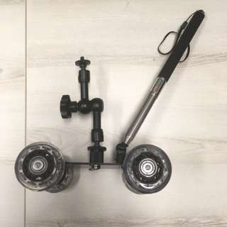 Camera dolly wheel