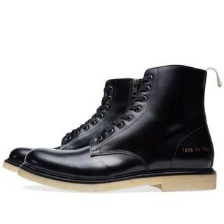 Common Projects Combat Leather Black