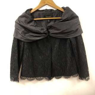 Escada black lace cardigan size 36