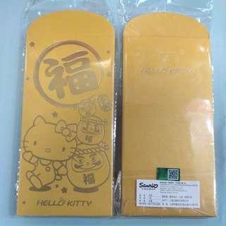 Hello Kitty 正版金色利是封8個一包 (包郵)