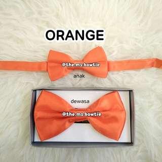 Dasi kupu import /BOWTIE import orange polyester satin