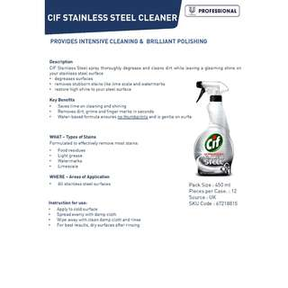 CIF STAINLESS STEEL CLEANER SPRAY