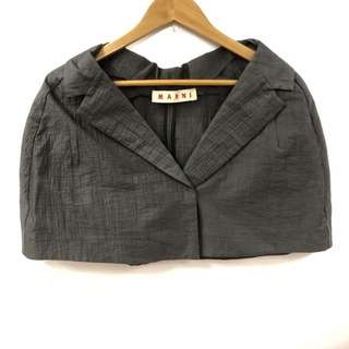 Marni dark gray cape size 38